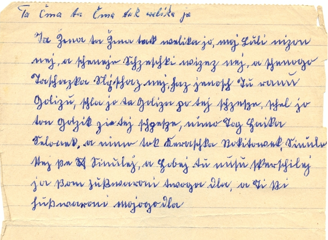 Liedfragment in Sütterlinschrift
